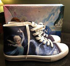 Women's Disney's Frozen Elsa High-top Sneakers Blue Size 8