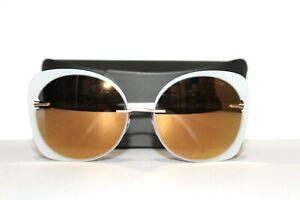 NEW SILHOUETTE 8164/75 8630 WHITE GOLD AUTHENTIC TITAN SUNGLASSES 58-17-140 CASE