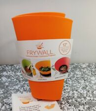 """Orange Frywall 12"""" Large  Pans Ultimate Splatter Mess Fry Protection Silicone"""
