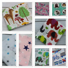 Beautiful Printed Large Muslin Squares 80x70cm 100% COTTON Wipes Reusable Nappy