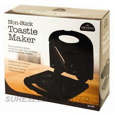 NON STICK TOASTIE MAKER SANDWICH MACHINE PANINI PRESS HEALTH GRILL GRIDDLE BLACK