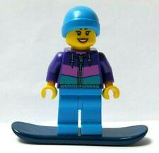 LEGO Female Girl Minifigure Figure  Ski Snow Suit & Snowboard