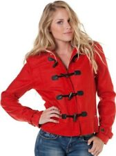 Nixon Stella Wool Military Women's Jacket Red Small