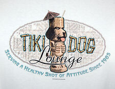 NEW Big Dogs Tiki Dog Lounge Cocktails Serving A Healthy Attitude T-Shirt Large