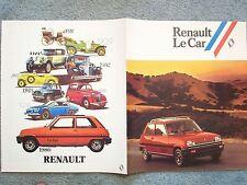1980 RENAULT LE CAR BROCHURE – 9 x 11