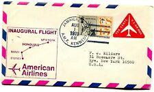 American Airlines First Flight New York Airport - Sydney Australia - 1970