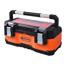 TACTIX Werkzeugkasten belastbar Metall Kunststoff Werkzeugkoffer Toolbox Leer