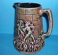 Studio Ceramica-Castello attraente stile con scene Medievale Brocca (M. MARCHI FMF).