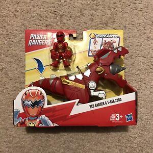 Playskool Heroes Power Rangers Red Ranger & T-Rex Zord TRex Dino NEW NIP