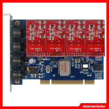 TDM400P PCI FXO Card FXS Card asterisk card For Issabel,Freepbx VoIP PBX TDM400