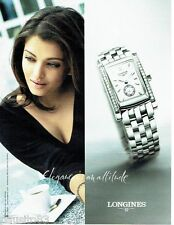 PUBLICITE ADVERTISING 126  2005  Longines montre Dolce Vita &  Aishwarya Rai