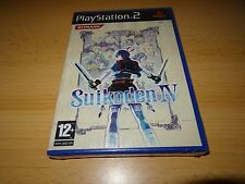 NEW FACTORY SEALED SUIKODEN IV 4 PLAYSTATION 2 PS2 SONY pal