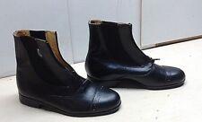 Rectiligne Women's Black Leather Riding Boots Zip Ankle Casual Dress Shoes 9M 40