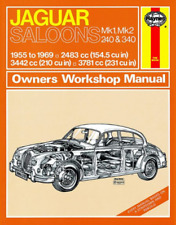 Jaguar Saloons Mk1 Mk2 240 340 1955-1969 Haynes Workshop Manual Service Repair