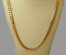 "14K Gold Miami Men's Cuban Curb Link Chain Necklace Heavy 99.8 Grams 24""  7mm"