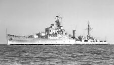 ROYAL NAVY CROWN COLONY CLASS LIGHT CRUISER HMS NEWFOUNDLAND IN 1955