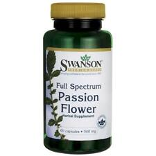 Swanson Passion Flower 500mg 60 cps Stress and Anxiety and Promoting Relaxation