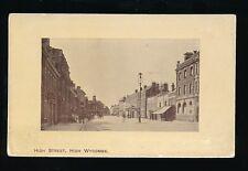 Buckinghamshire Bucks HIGH WYCOMBE High Street c1900s? RP PPC Calverts Bazaar