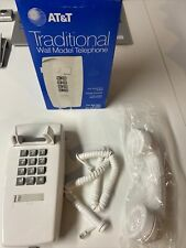 Vintage 1983 At&t Traditional Wall Model Push Button Phone White EUC W/Box
