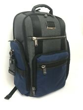 Tumi 232389 Alpha Bravo Sheppard Deluxe Brief Pack Backpack Laptop Bag Blue Gray