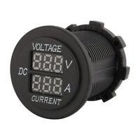 Digital Dual LED Voltmeter Amperemeter Volt Meter Gauge DC12V-24V Auto Motorrad