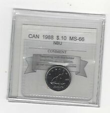 **1988** Coin Mart Graded Canadian,  10  Cent, **MS-66 NBU**