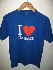 Tap Dance Tee - I Love Heart Dancing Dancer Red White & Blue Soft T Shirt Medium