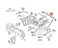 Mercedes Benz CLK Neu Original W209 AMG Styling Hintere Stoßstange Diffusor