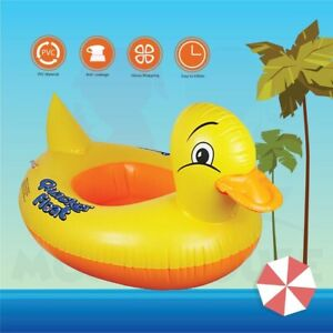 Inflatable Quacker Duck Pool Swimming Ring Floating Baby Kids Beach Toddler Boat
