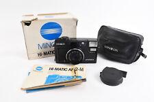 Minolta Hi-Matic AF2 M 35mm Autofocus Film Camera With Box Manual Cap Case V84