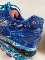 Asics Men's Size 10 Gel Nimbus 18 NYC Marathon Running T6D4N Athletic Shoes