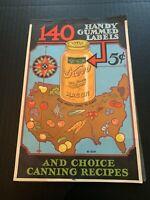 1935 Kerr Mason Jars Gummed Labels