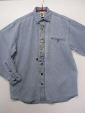 SOLO - Herren Trachten -Hemd in Jeans-Optik, Gr. 38