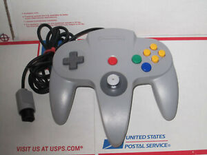 Official Nintendo 64 N64 Gray Grey Tight Controller Authentic TESTED Games Nice