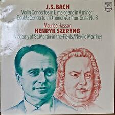 BACH: Violin Concertos/Double Concerto/Air-M1976LP DUTCH IMPORT SZERYNG/MARRINER