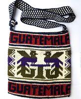 Unisex Handmade Knitted Cotton Boho Crossbody Tote Bag Morral Solola Guatemala