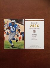 Barry Sanders Lions unsigned Goal Line Art Card with slight wear