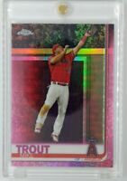 2019 19 Topps Chrome Pink Refractor Mike Trout #200, Angels, Parallel