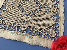 Incrustation ancienne Jours Brides Carré Ouvrage Création Couture 1660/ - J -