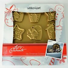 Christmas Cookies Baking Silicone Mould By Silkomart. Pan Of 9 Moulds