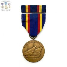 U.S. NAVY YANGTZE SERVICE MEDAL CRIMP BROOCH RIBBON BAR 1940'S US MINT