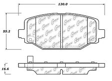 Centric Parts 103.15960 Rear Ceramic Brake Pads