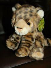 """Fiesta Lazy Beans Cheetah Leopard cub 8"""" plush"""