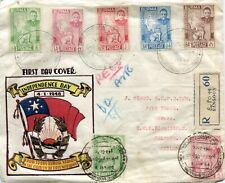 BURMA 1948  registered letter st. air mail  f.d.c. from RANGOON to CEYLON