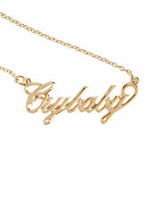 Melanie Martinez Cry Baby Crybaby Gold Tone Nameplate Pendant Necklace Licensed