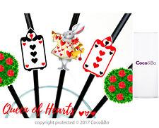 Coco&Bo 10 x Queens Court Tea Party Straws Alice in Wonderland Table Decoration
