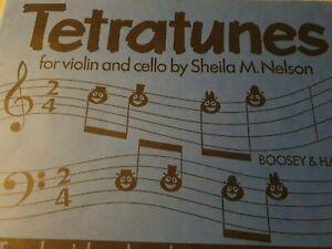 Tetratunes For Violin Viola Cello Teachers Book by Sheila Nelson
