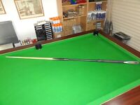 "2pc ASH  POOL / SNOOKER 48"" CUE BUILT IN TELESCOPICC BUTT"