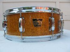 Vintage Majestic De Luxe 1960's Gold Sparkle Snare Drum