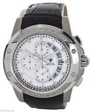 Aqua Master White Dial Stainless Steel Case Diamond Men's Black Band Watch W#347